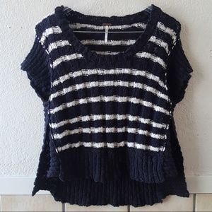 Free people cropped open knit sweater size XS